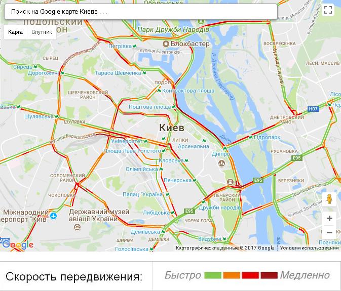 Скріншот із сайту Google Maps