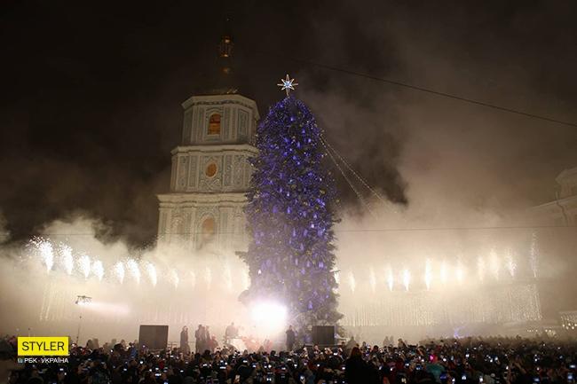 Фото: Відкриття новорічної ялинки у Києві (styler.rbc.ua)