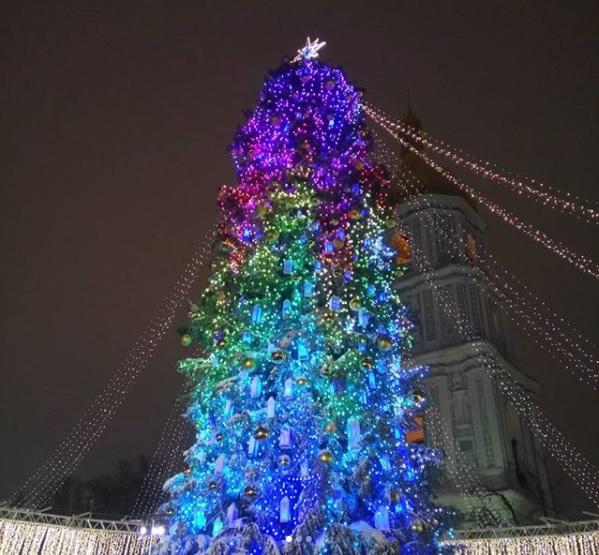 Це 29-метрове дерево привезли з Івано-Франківської області. Фото artemtkach3339