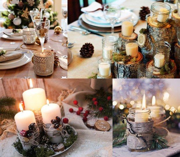 Посеред новорічного столу не забудьте поставити велику білу свічку