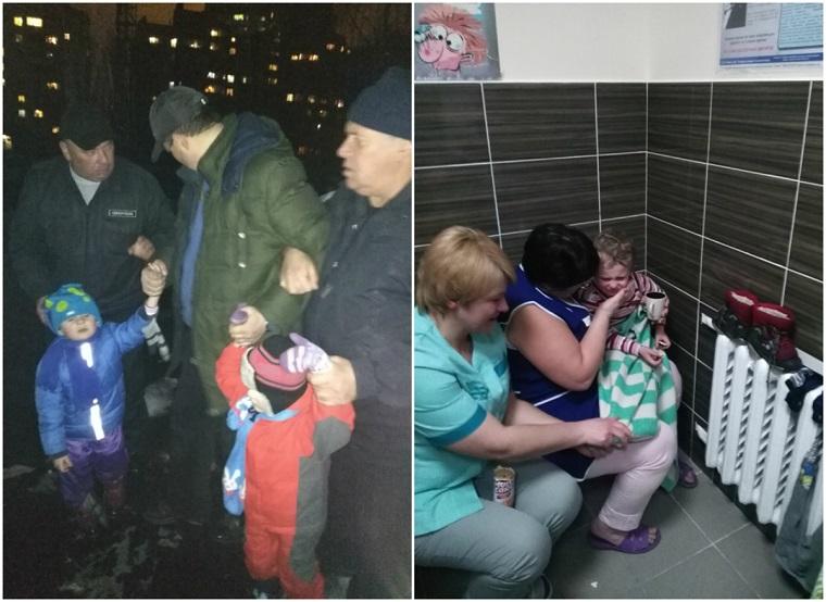 На Київщині горе-батько змусив дітей стояти в мороз на даху (фото)