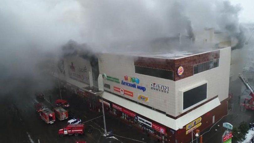 Пожежа в ТРЦ «Зимова вишня» в Кемерово. Фото: Firenews