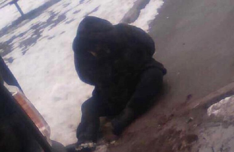 Киянка забирала племінника з садка, але по дорозі заснула в снігу (фото, відео)