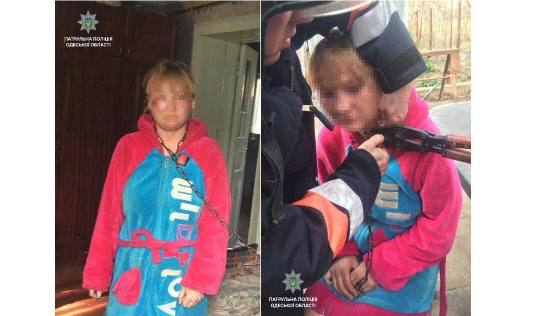 Держали на цепи: в Одессе молодую женщину освободили из рабства