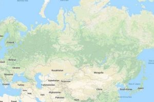 Американці стерли з карти світу Росію в Google Maps
