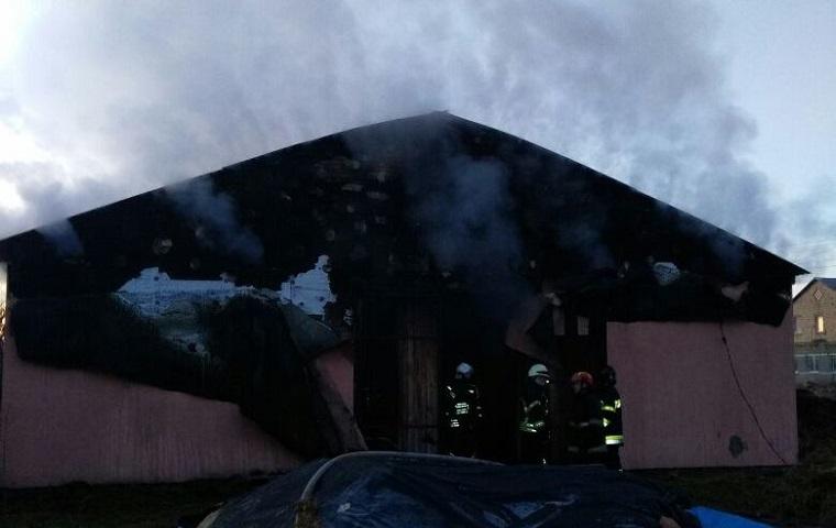Під Києвом згоріла стайня (фото)
