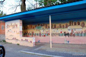 У Київській області місцева художниця розмалювала зупинки (фото)