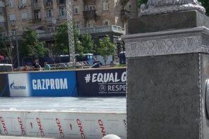 Ліга чемпіонів 2018: в центрі столиці рекламують російську компанію