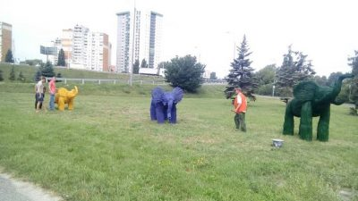У столиці оселилися різнокольорові слони (фото)