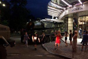 Під час репетиції святкового параду в Києві ЗРК «Бук» в'їхала у бізнес-центр (фото, відео)