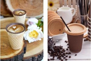 Українська компанія випустила вафельні кришечки для кави з собою