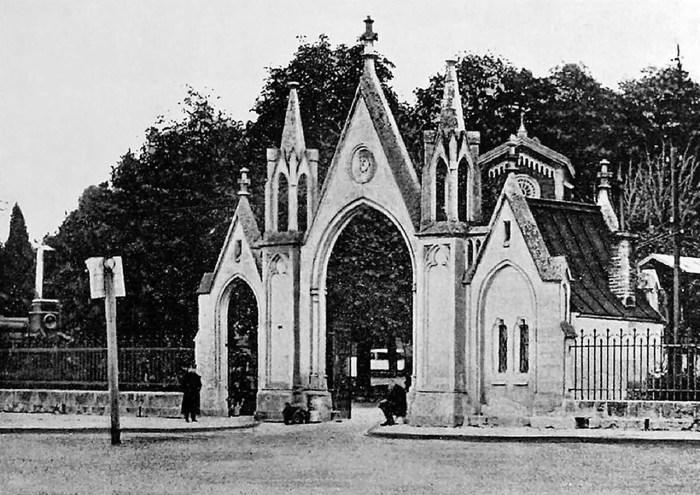 Головні ворота Личаківського цвинтаря, 1900 рік личаківський цвинтар личаківське кладовище