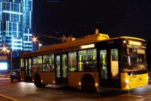 У Києві запускають новий нічний тролейбус