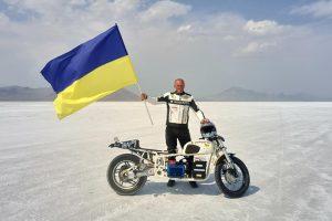 Українець встановив світовий рекорд швидкості на електробайку
