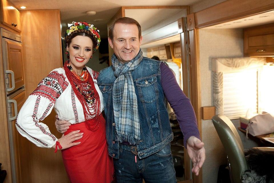 Віктор Медведчук та Оксана Марченко