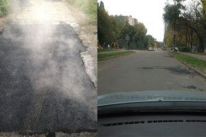 Кияни не дочекалися комунальників і самі відремонтували дорогу (фото)