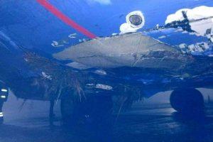 Невдала посадка в «Борисполі» літак виїхав за злітно-посадкову смугу (фото)