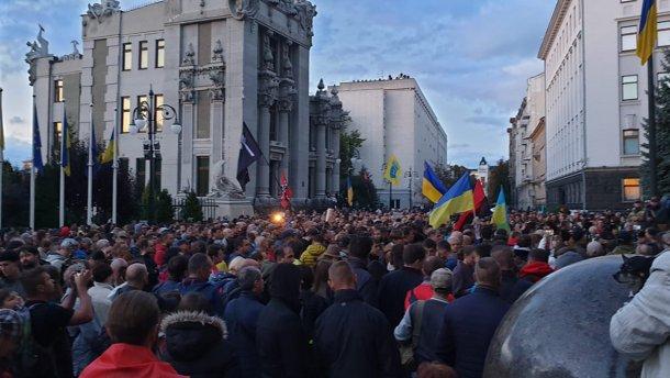 Нормандська змова – державна зрада: у Києві мітингували проти формули Штайнмаєра (фото та відео)